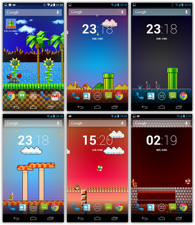 neko.works - [Theme] 8-Bit Live Wallpaper, landscapes from popular retro games on Android!