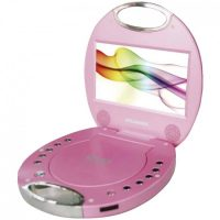"The Sylvania® SDVD7046-PINK 7"" Portable DVD Player with Integrated Handle"