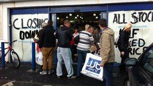 NI jobs lost as JJB Sports stores close - BBC News