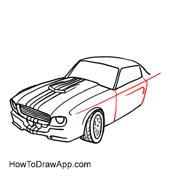 How to draw a car 09