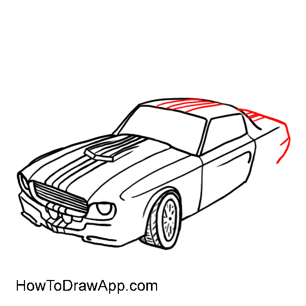 How to draw a car 10