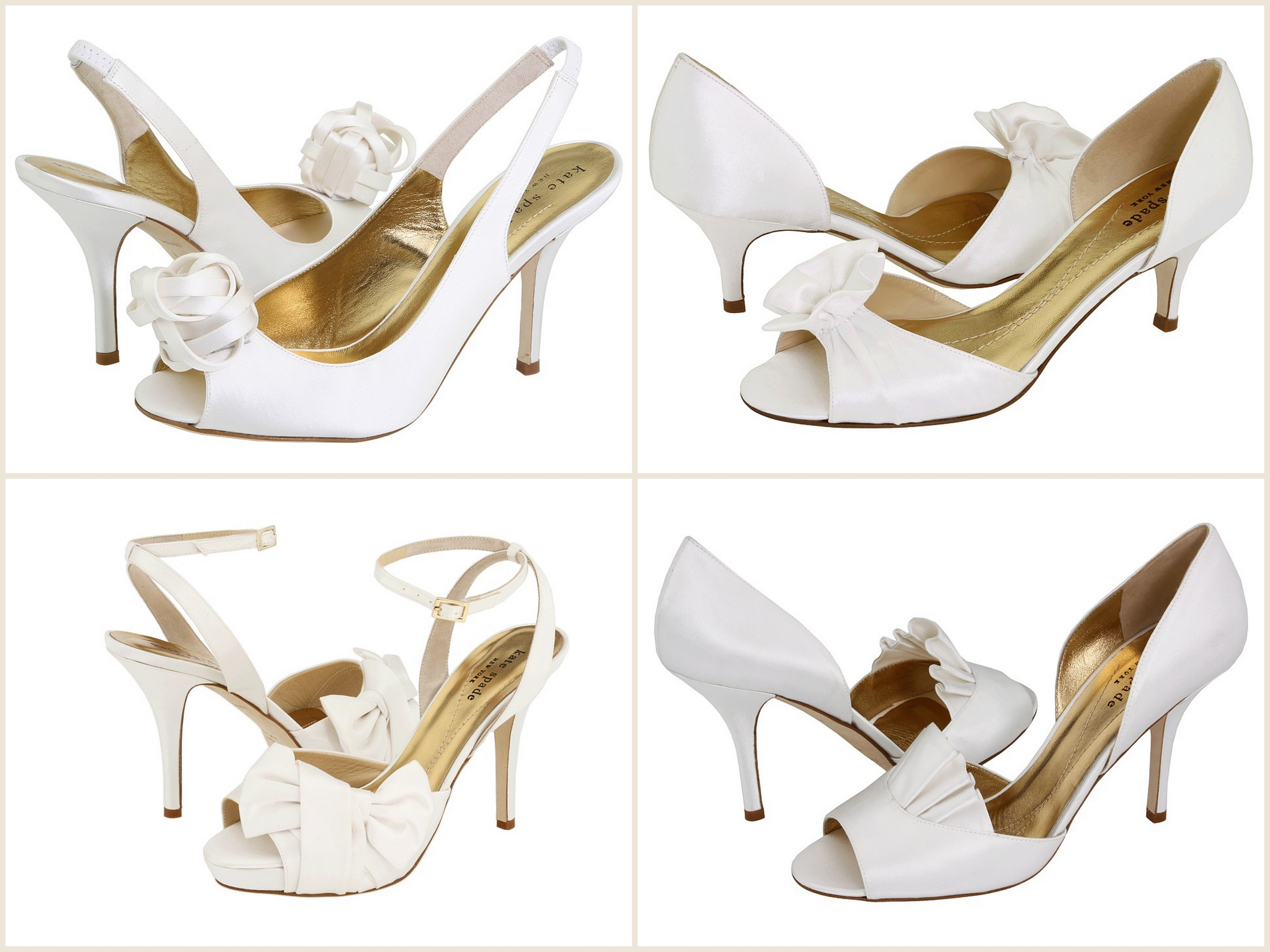 bridal shoes kate spade wedding shoes Kate Spade clockwise starting from top left Christa Evie Chrisette Gracious 2