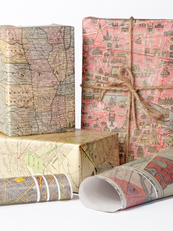 Historic Map Gift Wrap