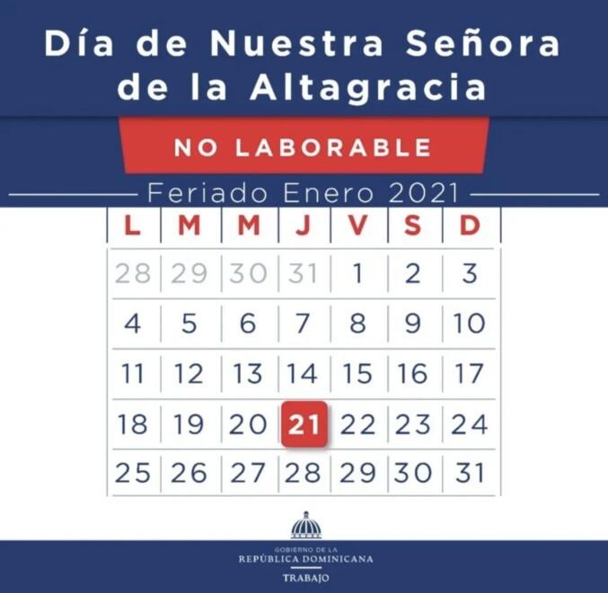 Ministerio de Trabajo reitera Día de la Altagracia no se cambia