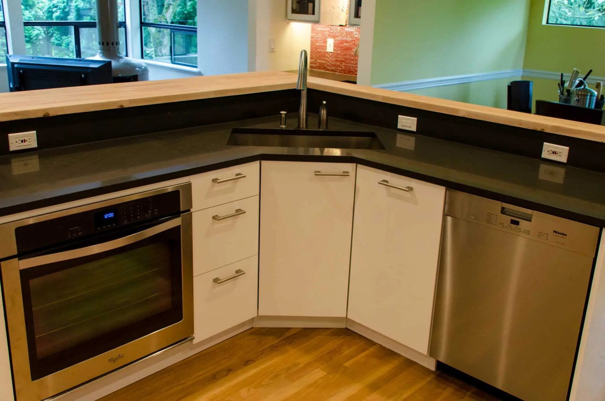 an ikea kitchen that pops sink kitchen cabinets Kitchen Kirkland 5