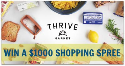 Thrive Market $1000 Shopping Spree Giveaway