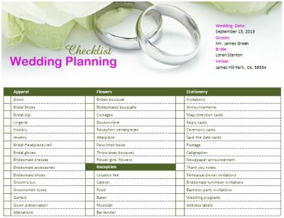 MS Word Wedding Planning Checklist   Office Templates Online