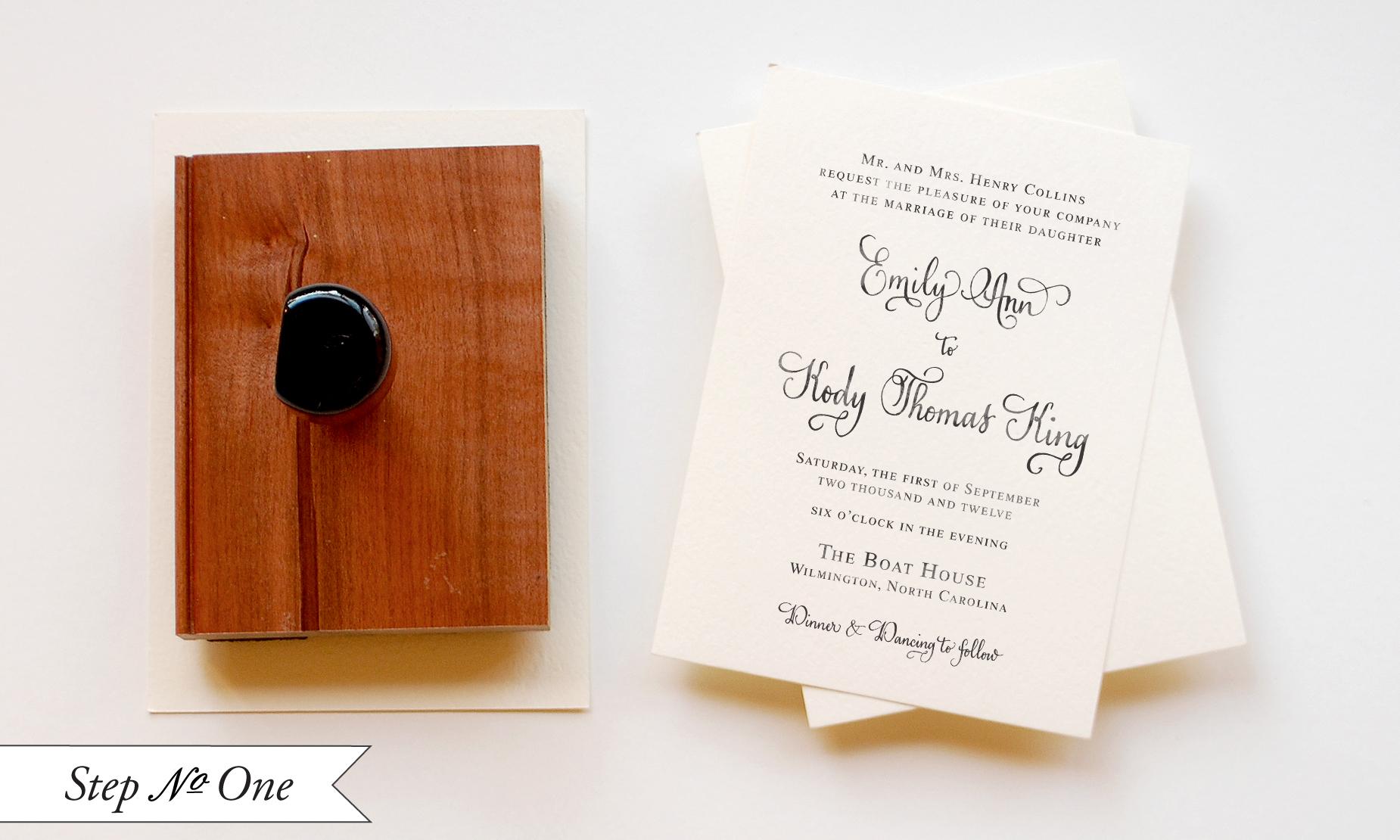 diy tutorial little blue box inspired rubber stamp wedding invitations wedding invitation stamps Tiffany Blue DIY Wedding Invitation Suite