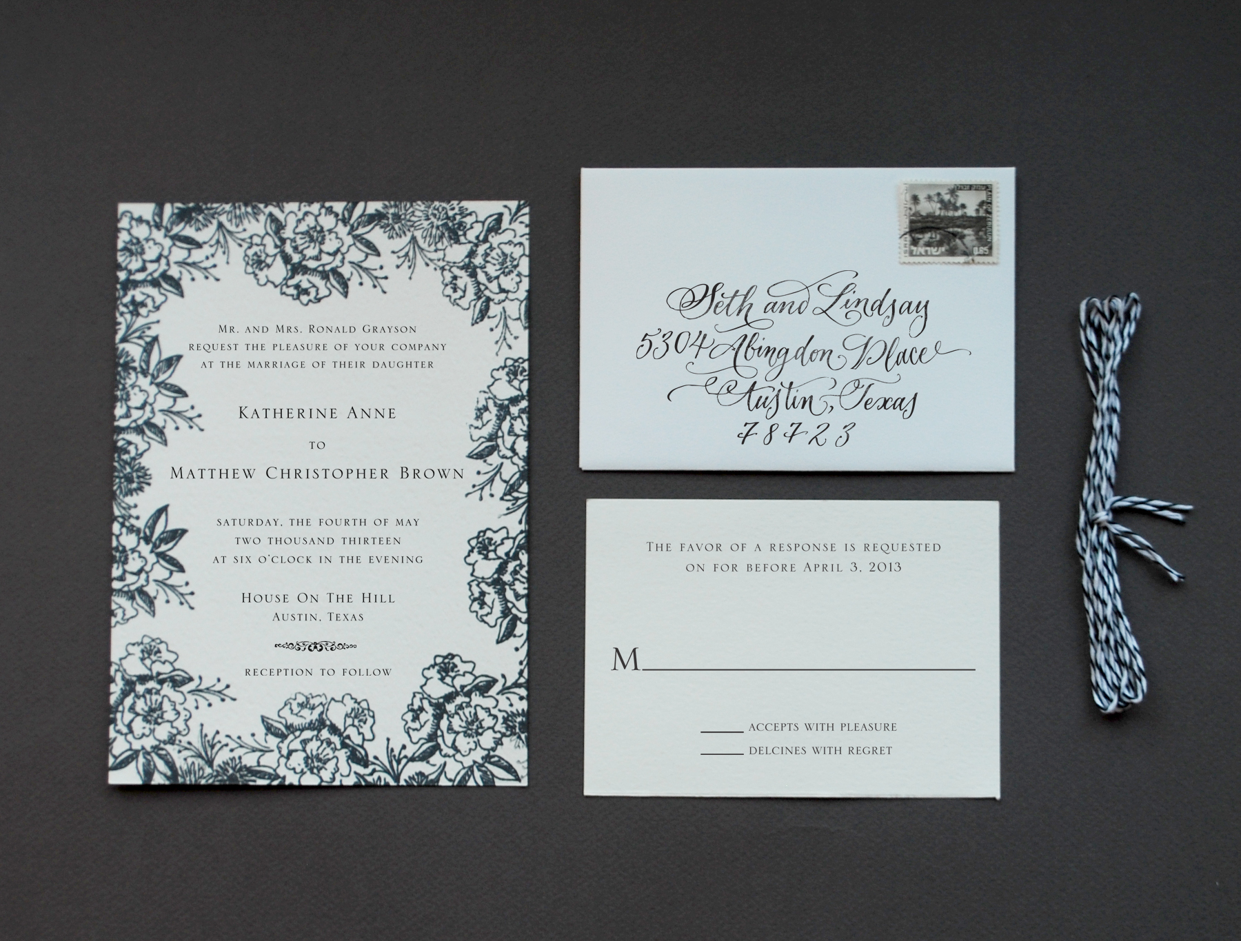 diy tutorial rubber stamp floral wedding invitations wedding invitation stamps DIY Tutorial Floral Rubber Stamp Wedding Invitations
