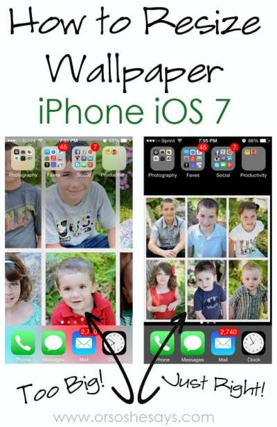 How to Resize Wallpaper on iPhone iOS 7 - Or so she says...