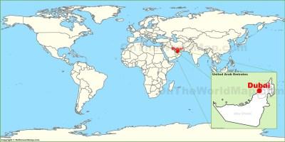 Dubai on the World Map