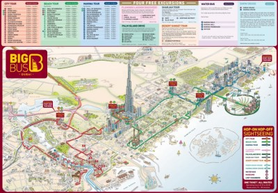 Dubai tourist attractions map