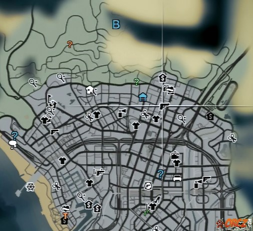 GTA V Map  24 7 Supermarket   Vinewood Plaza   Orcz com  The Video     Map Location edit
