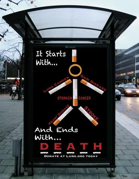 Bus Shelter Anti Smoking