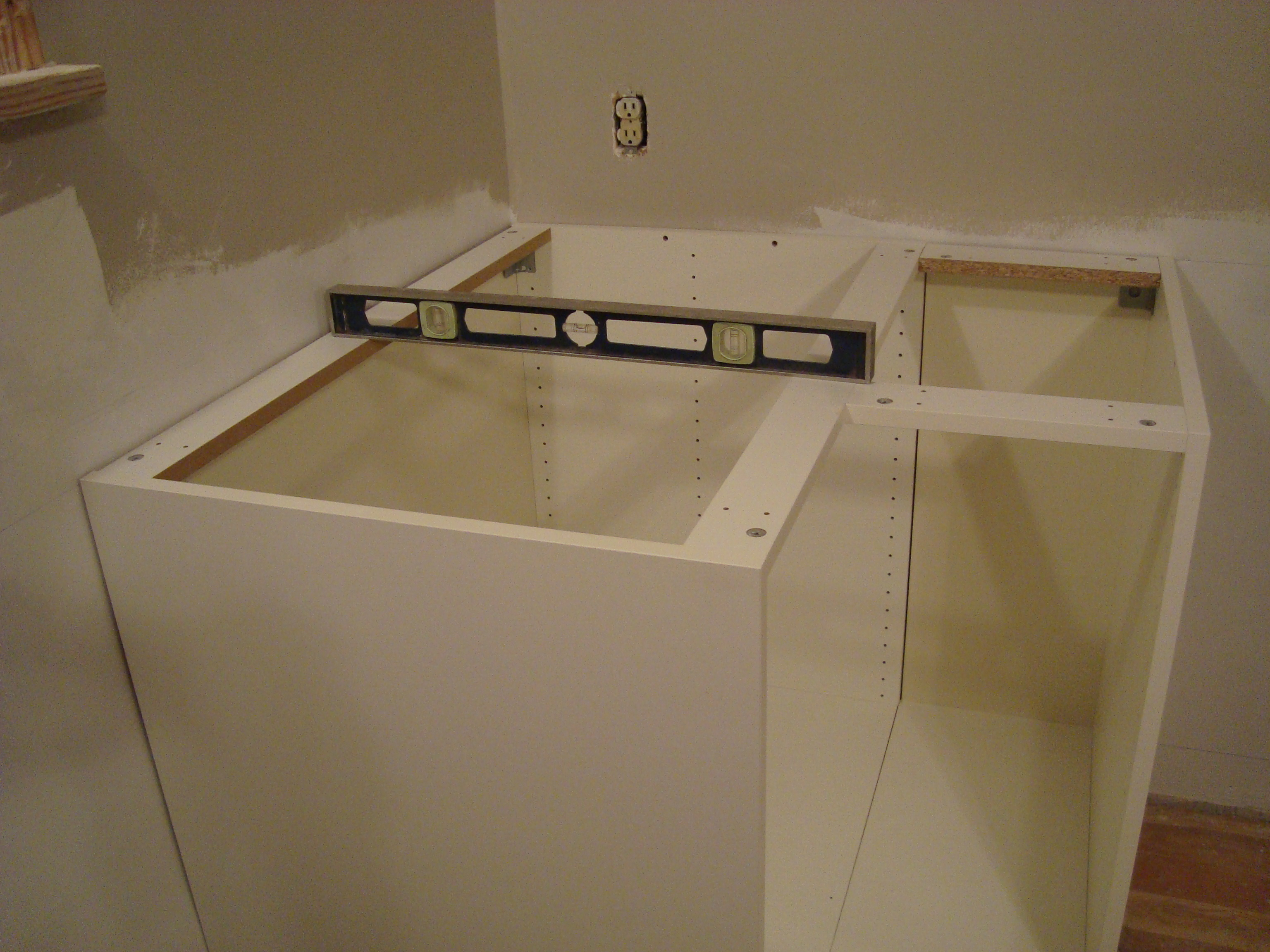 An Och 10 Step Program Installing Kitchen Cabinets Kitchen Sink Cabinet  Step 7 Cut Openings For