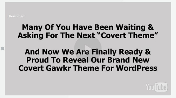Covert Gawkr WP Theme Software by The IM Wealth Builders