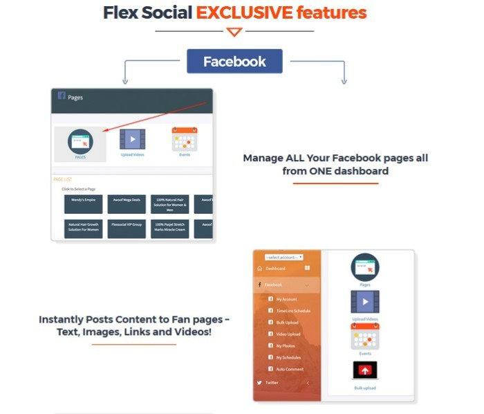 Flexsocial Social Media Automation Suite Software by Daniel Adetunji