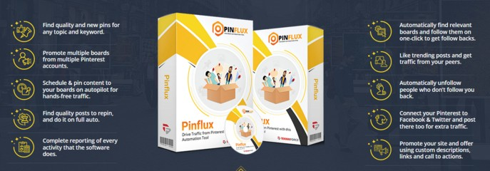 Pinflux Pinterest Automation Tool Software by Cyril Gupta