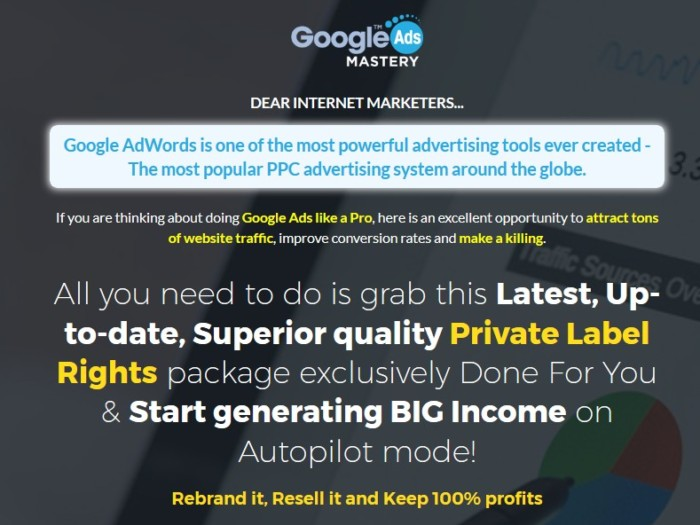 Google Ads Mastery PLR Training Course by firelaunchers