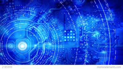 Blue Computer Circuit Board Background Loop Stock Animation | 2185999