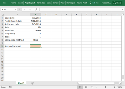 Excel ACCRINT Function | Help | Examples - PakAccountants.com