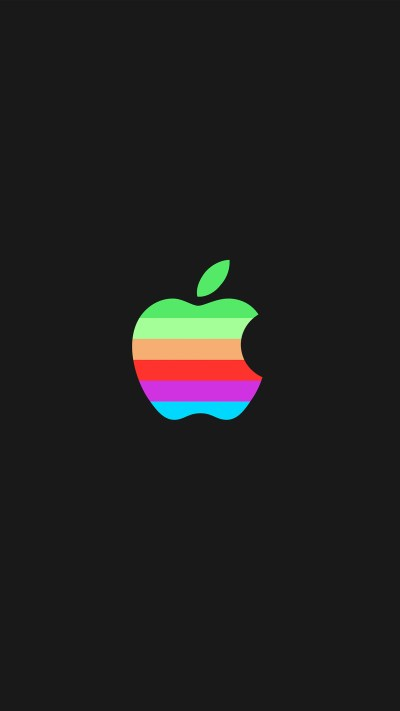 aw33-minimal-logo-apple-dark-rainbow-illustration-art-wallpaper