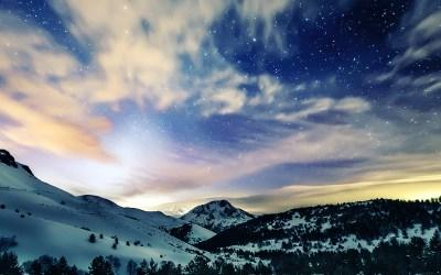 mk79-aurora-star-sky-snow-night-mountain-winter-nature-wallpaper