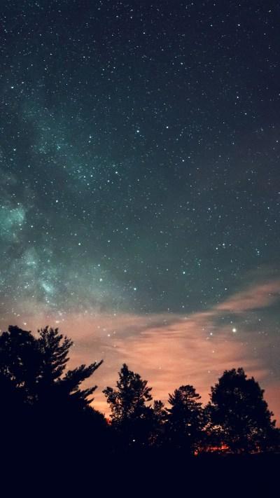 PAPERS.co | iPhone wallpaper | mv73-sky-night-star-dark-mountain-cloud-green-blue
