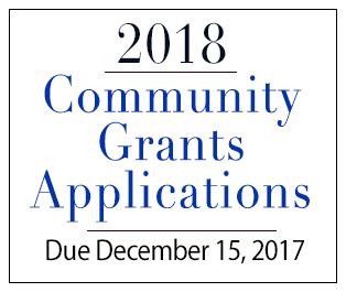 2018 Community Grants Application Process