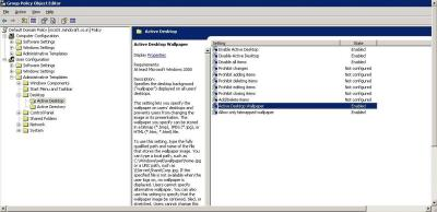 Disabling Wall Paper Through Group Policy | Manish Patil's Blog