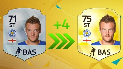 Leicester's Jamie Vardy gets a new FIFA 16 rating, he destroys his old card with a headbutt ...