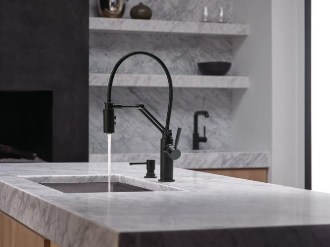 brizo brizo kitchen faucets A kitchen faucet by brizo that works hard and looks good doing it http design milk com a kitchen faucet that works hard and looks good doing it