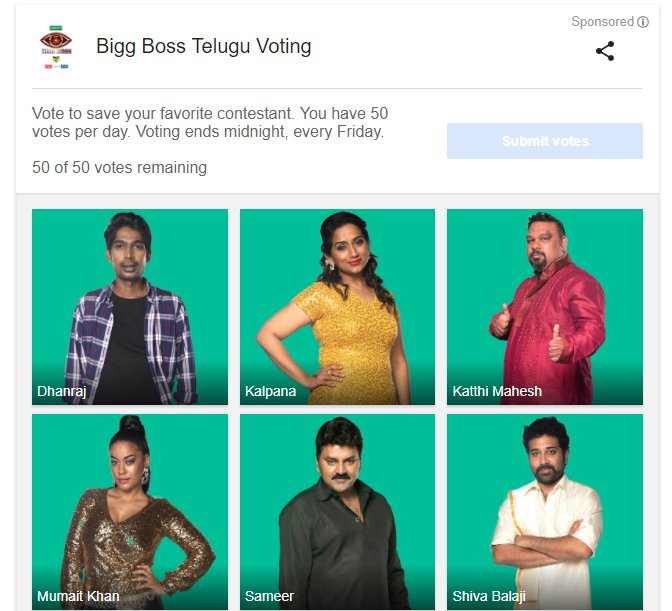 STAR MAA on Twitter   Now you can even vote for your favorite     9 55 AM   31 Jul 2017