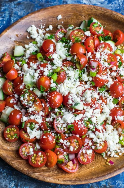 Cherry Tomato Salad - Peas And Crayons
