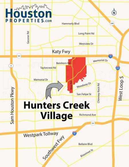 Hunters Creek Village Location