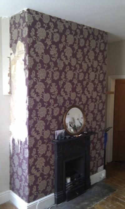 Wallpaper chimney - Painting & Decorating job in Manchester, Lancashire - MyBuilder