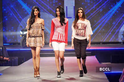 Models walk the ramp during 'Future Lifestyle Fashion ...