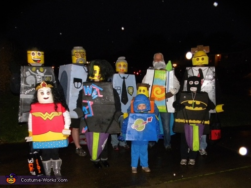 The Lego Movie Family Homemade Costume   Photo 2 9 The Lego group with Good Cop  The Lego Movie Family Costume