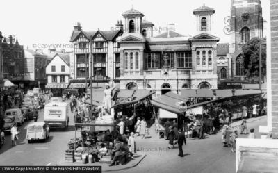 Kingston Upon Thames, The Market Place 1961 - Francis Frith