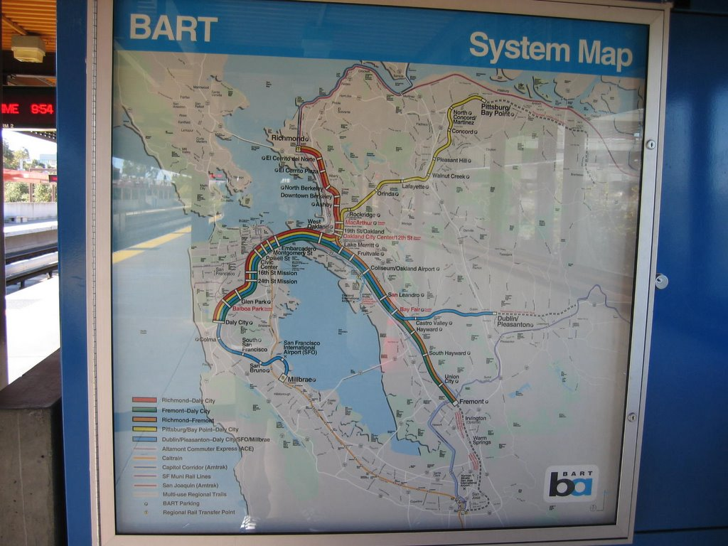 A brand new beginning      First Trip to San Francisco     6th Nov A map of the SF MRT  Look at the photo of their ticketing system     very  the same as ours wor     But the BART os no cheap     cost about USD 4 plus