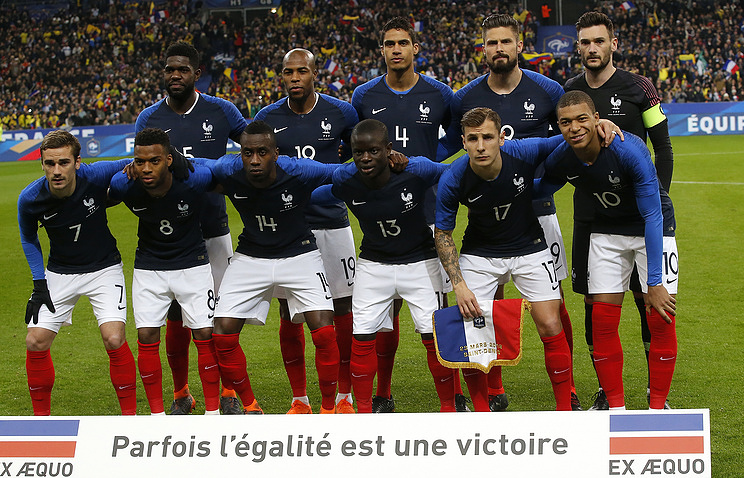 TASS  Sport   French national football team to arrive in St     French national football team