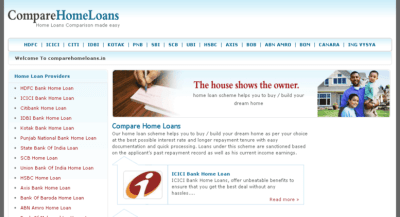Access comparehomeloans.in. Compare Home loans India, Home loan Offers, compare interest rates ...