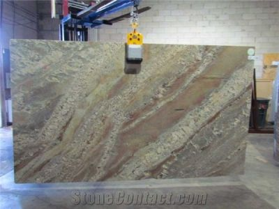 Netuno Bordeaux Granite Slabs from United States-153414 - StoneContact.com