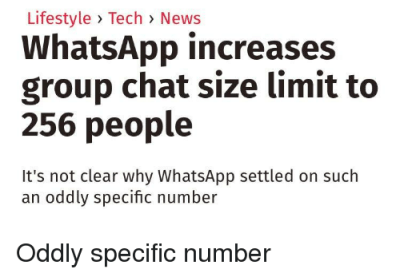 Lifestyle Tech News WhatsApp Increases Group Chat Size ...