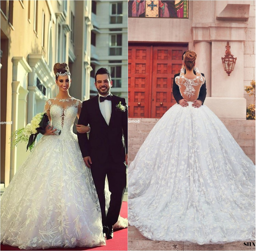 aliexpress wedding dresses Aliexpress com Buy Facebook Vestidos De Novia Ball Gown Long Sleeve Arabic Wedding Dress Scoop Neck Beaded Appliques Pinterest Wheretoget it from