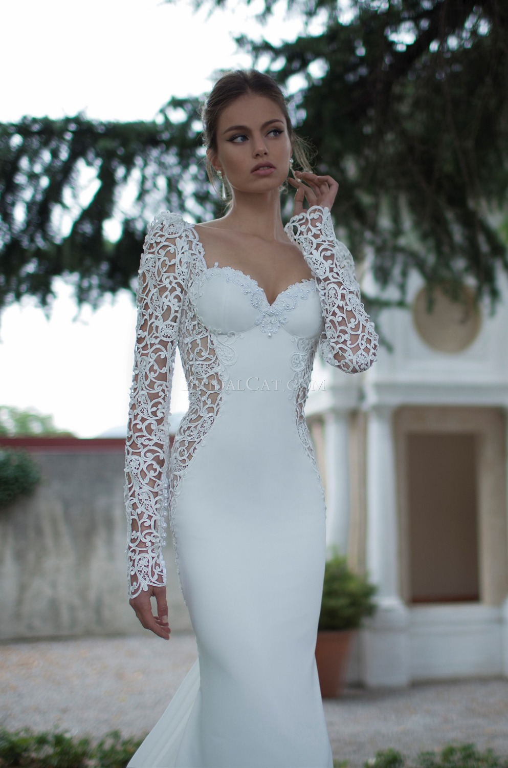 lilac wedding dress Aliexpress com Buy Lebanon Designer Style Cap Sleeve Sexy Low Back Sequence Beads Laces Patterns Wedding Dresses Spring XT from Reliable dress