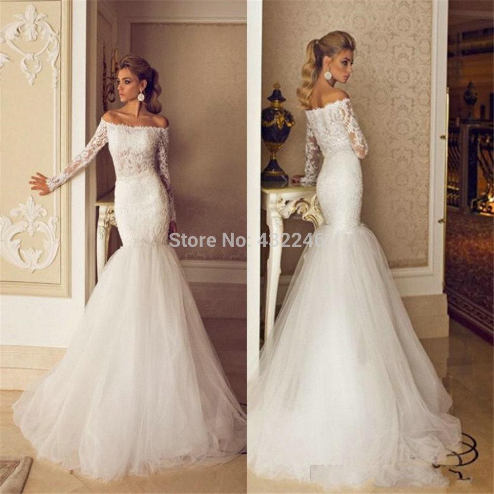 aliexpress wedding dresses Aliexpress com Buy SW Long Sleeve Lace Vestidos Para Bodas Mermaid Wedding Dress Soft Tulle from Reliable