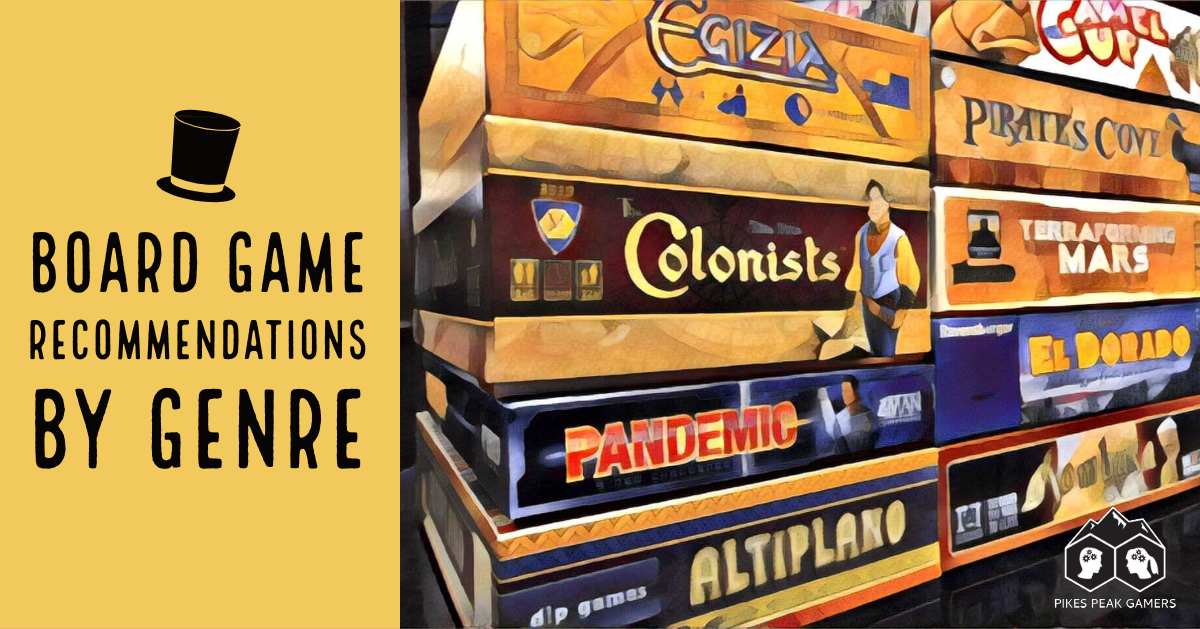 The Gaming Sommelier's Board Game Recommendations By Genre
