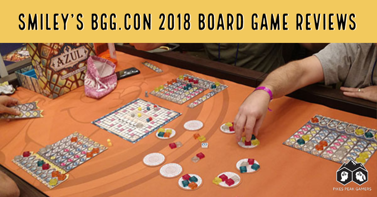 Smiley's BGG.CON 2018 Board Game Reviews