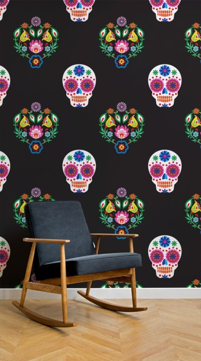 Fabulous Day of the Dead wallpaper | Pitter Pattern
